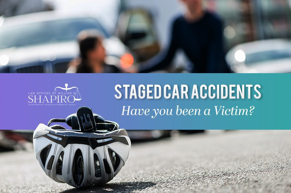 staged car accident victim